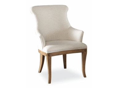 Hickory White Upholstered Arm Chair 631-65