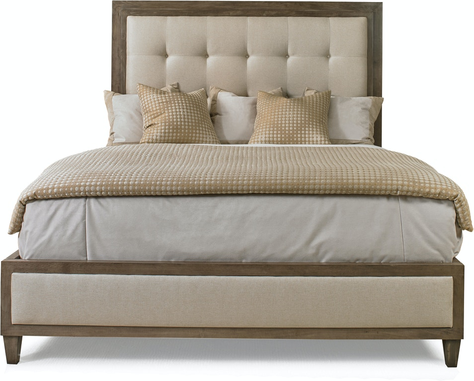 Hickory white bedroom lenore king upholstered bed 815 21b eldredge furniture salt lake city ut for Bedroom furniture salt lake city