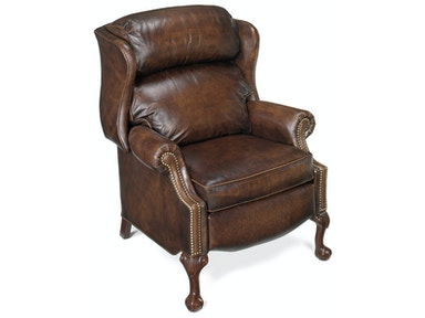 Bradington-Young Living Room Maxwell Ball And Claw Reclining Wing Chair