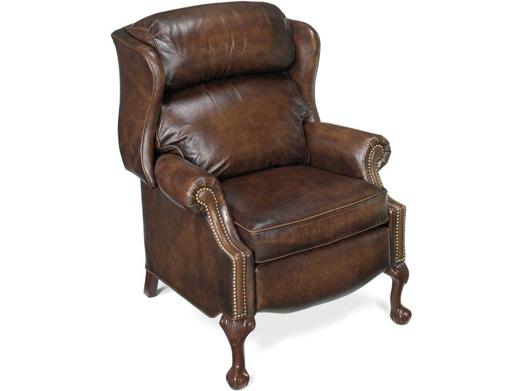 Bradington Young Living Room Maxwell Ball And Claw Reclining Wing Chair 4115 Andrews Furniture