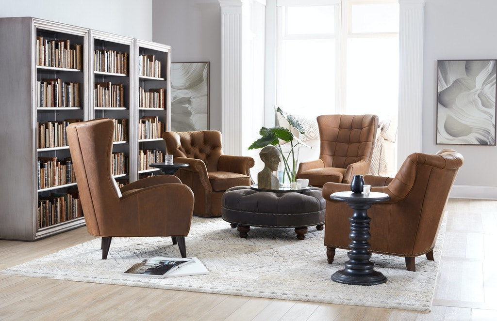 Bradington Young Living Room Kirby Stationary Chair 463 25