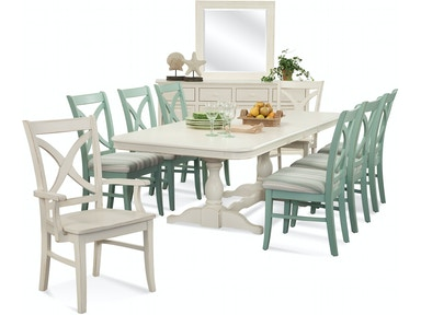 Hues Trestle Dining Room Set 1064-DT-SET2