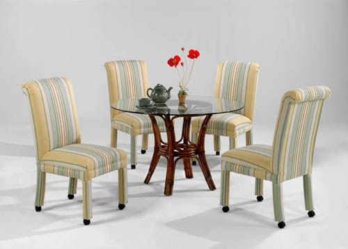 Parson Side Chair with Casters 525-028