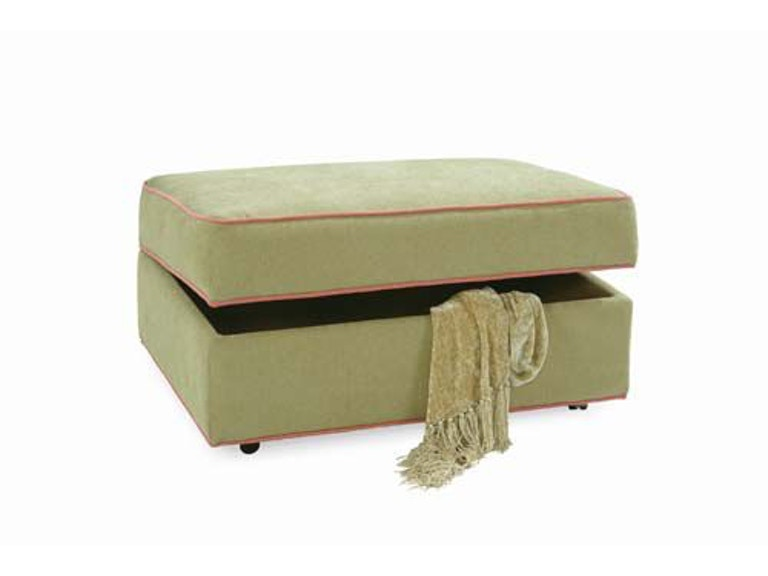Braxton Culler Storage Ottoman with Casters 546-009 - Braxton Culler Living Room Storage Ottoman With Casters 546-009