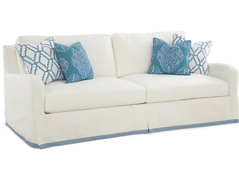 Braxton Culler Libby Langdon Halsey Slip Covered Sofa 5745-011XP
