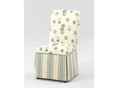 Side Chair Skirted with Casters 625-028