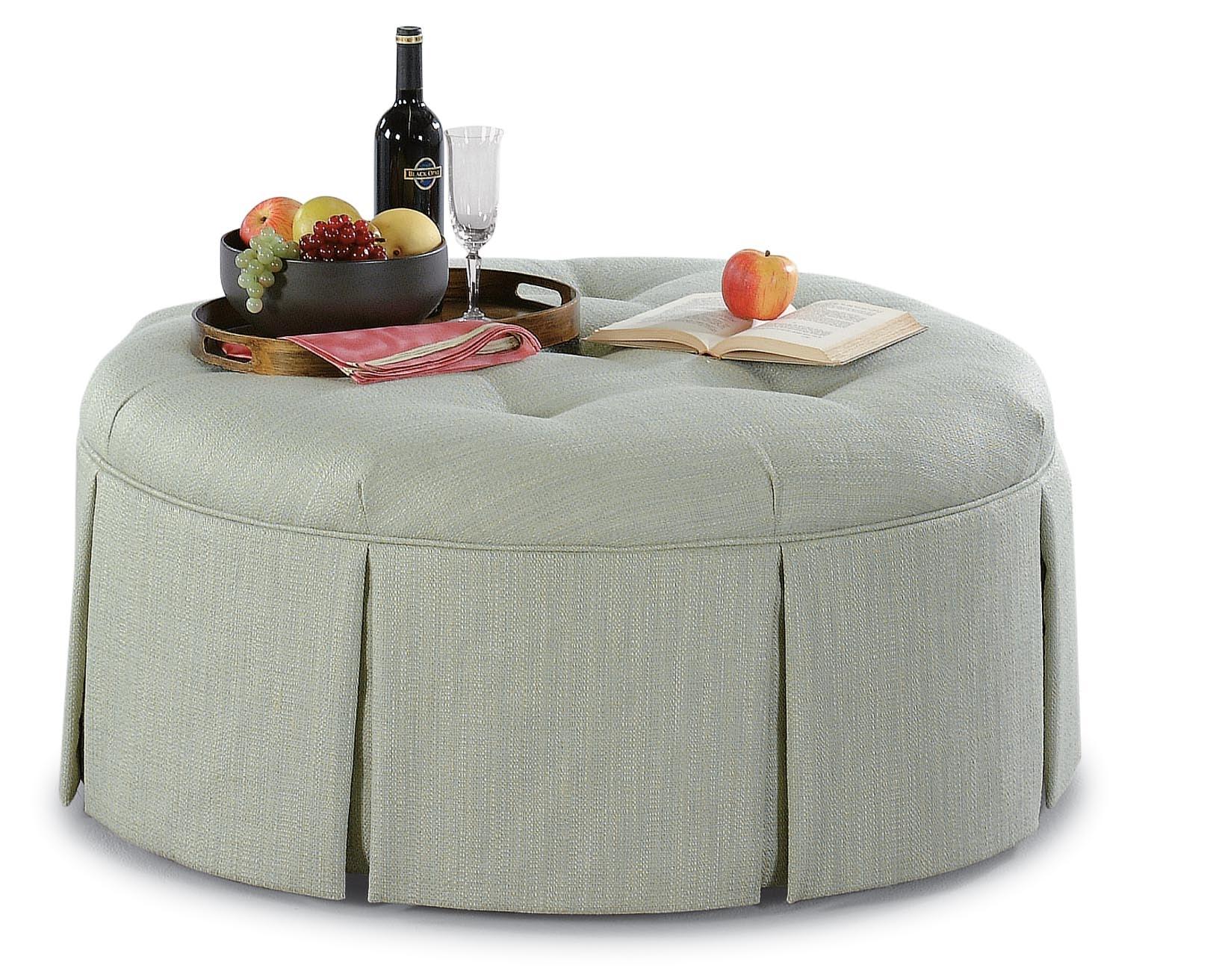 Large Round Ottoman 644-009
