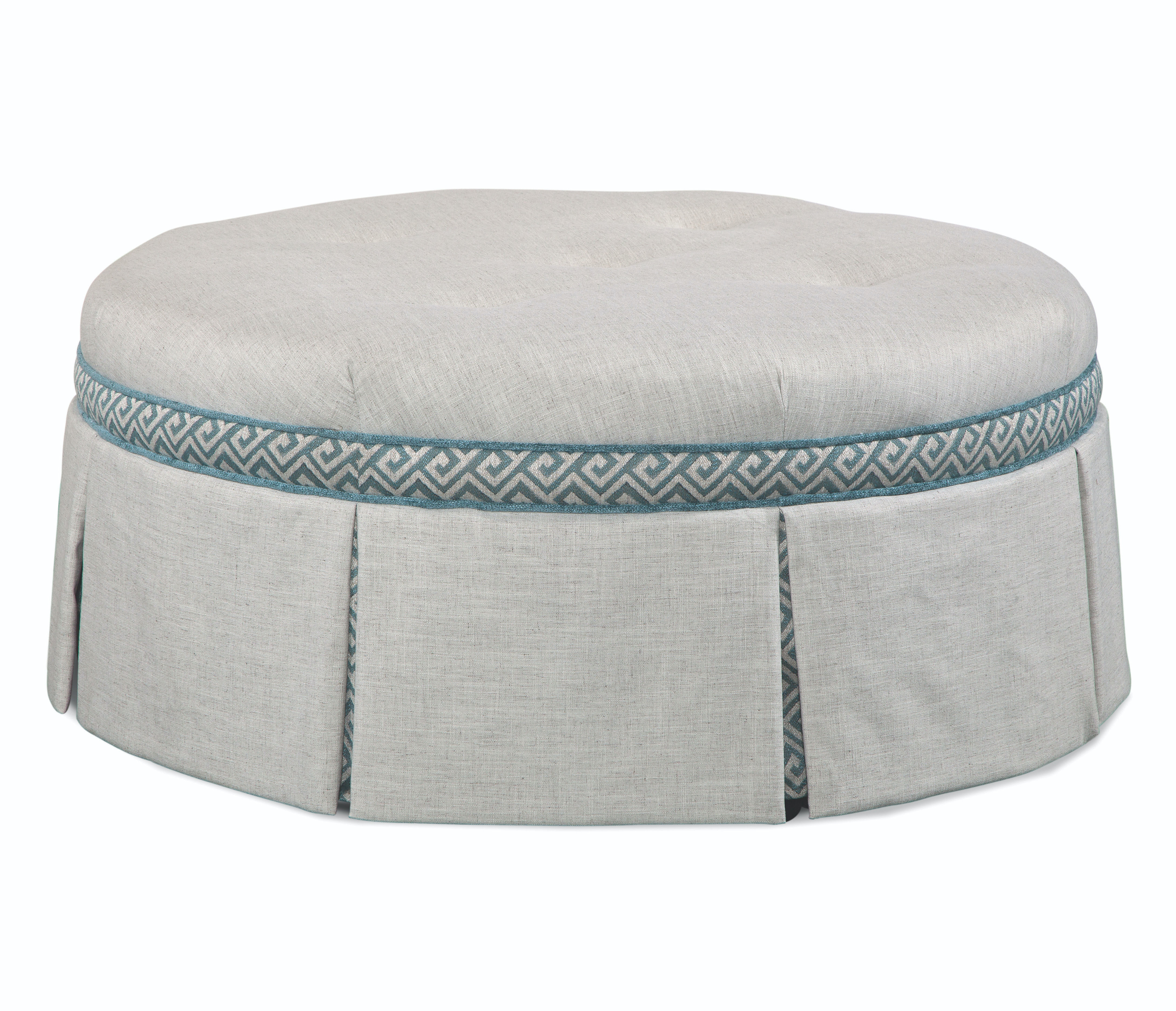 """Downing 32"""" Round Cocktail Ottoman 643-009CB"""