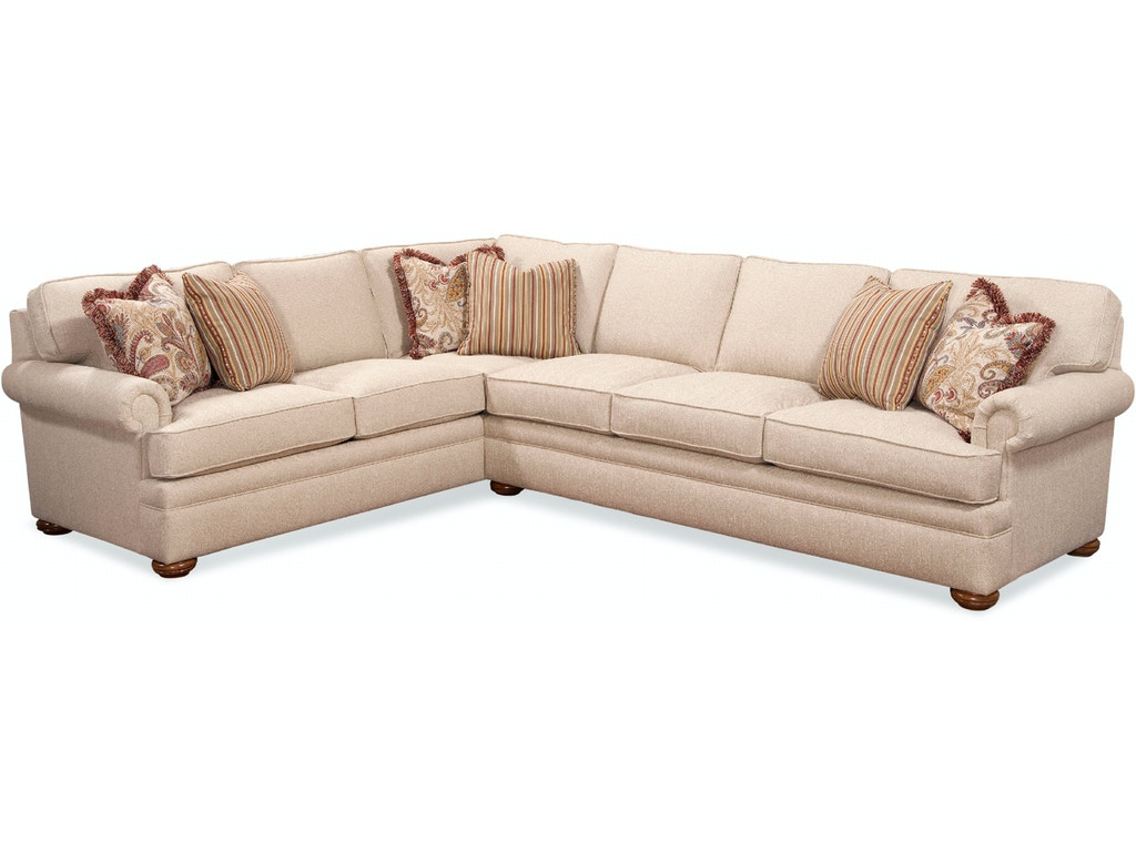 Braxton culler living room sectionals 7111 sectional for Quality furniture