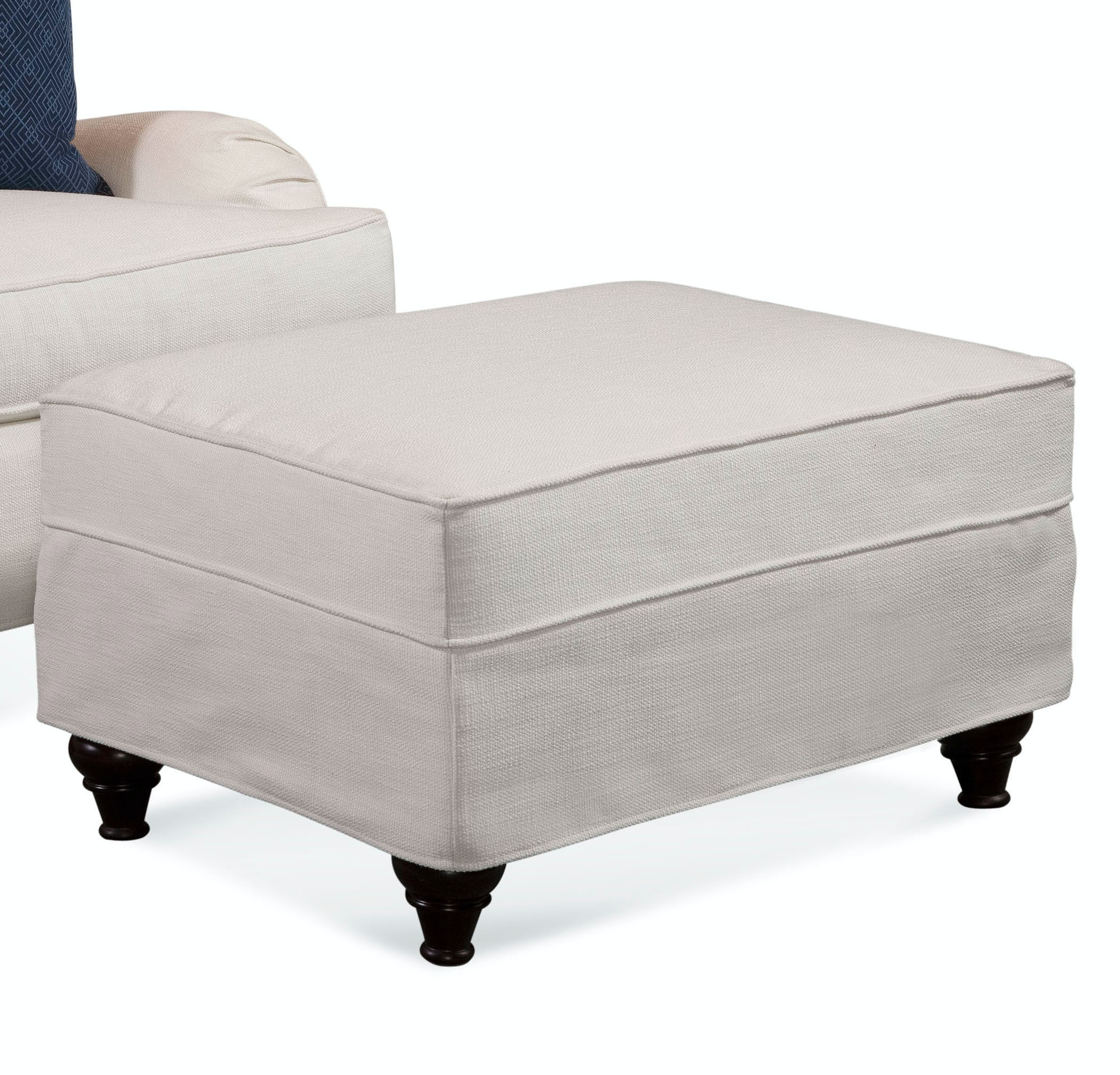 Crown Estate Ottoman with Slipcover 712-009XP