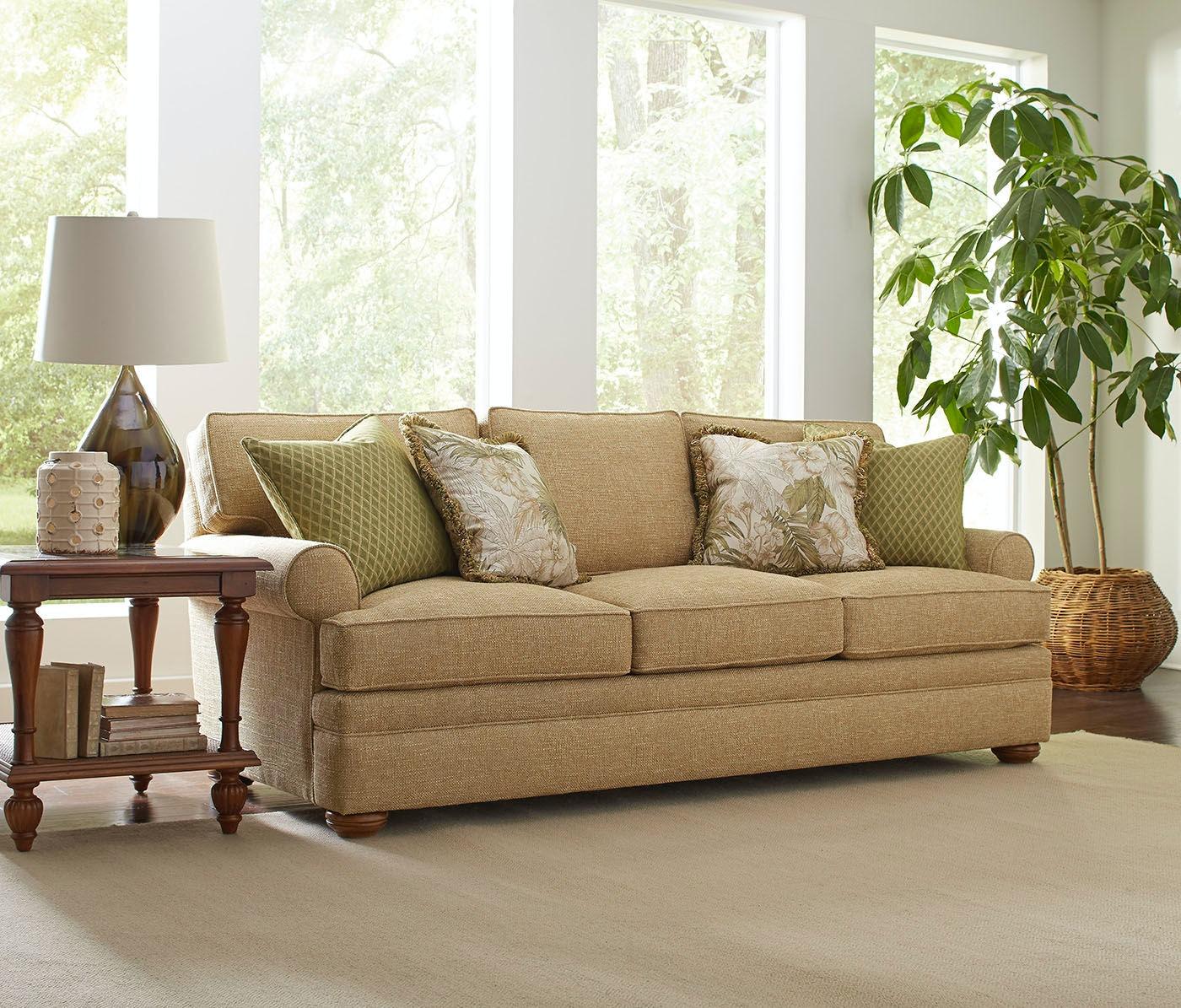 Braxton Culler Living Room Kensington Sock Arm Boxed Back Pillow  ~ Kensington Upholstered Sofa