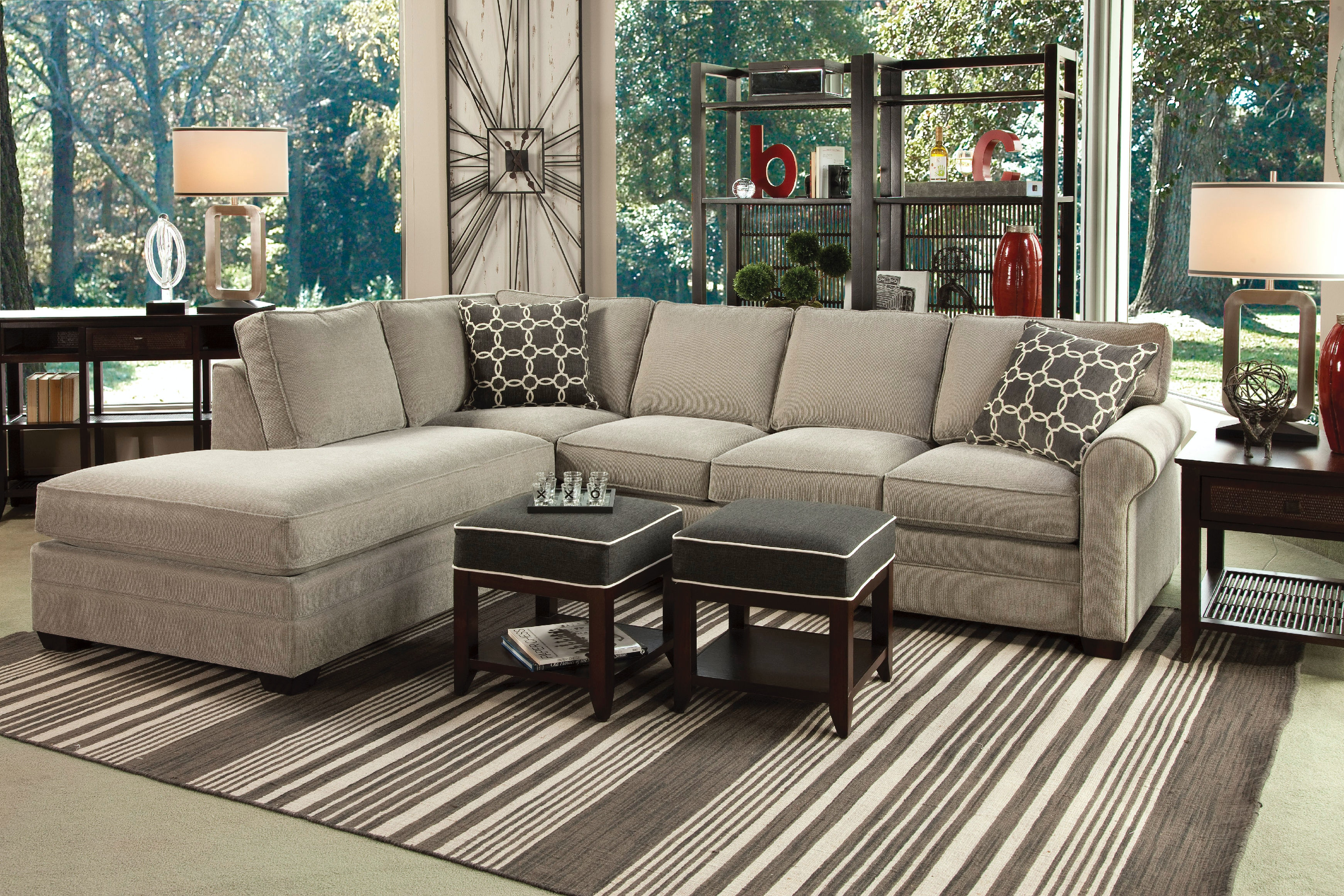 Charmant Braxton Culler Living Room Bedford Sectional 728 Sectional   Weinbergeru0027s  Furniture And Mattress Showcase   Augusta And Lake Oconee, GA