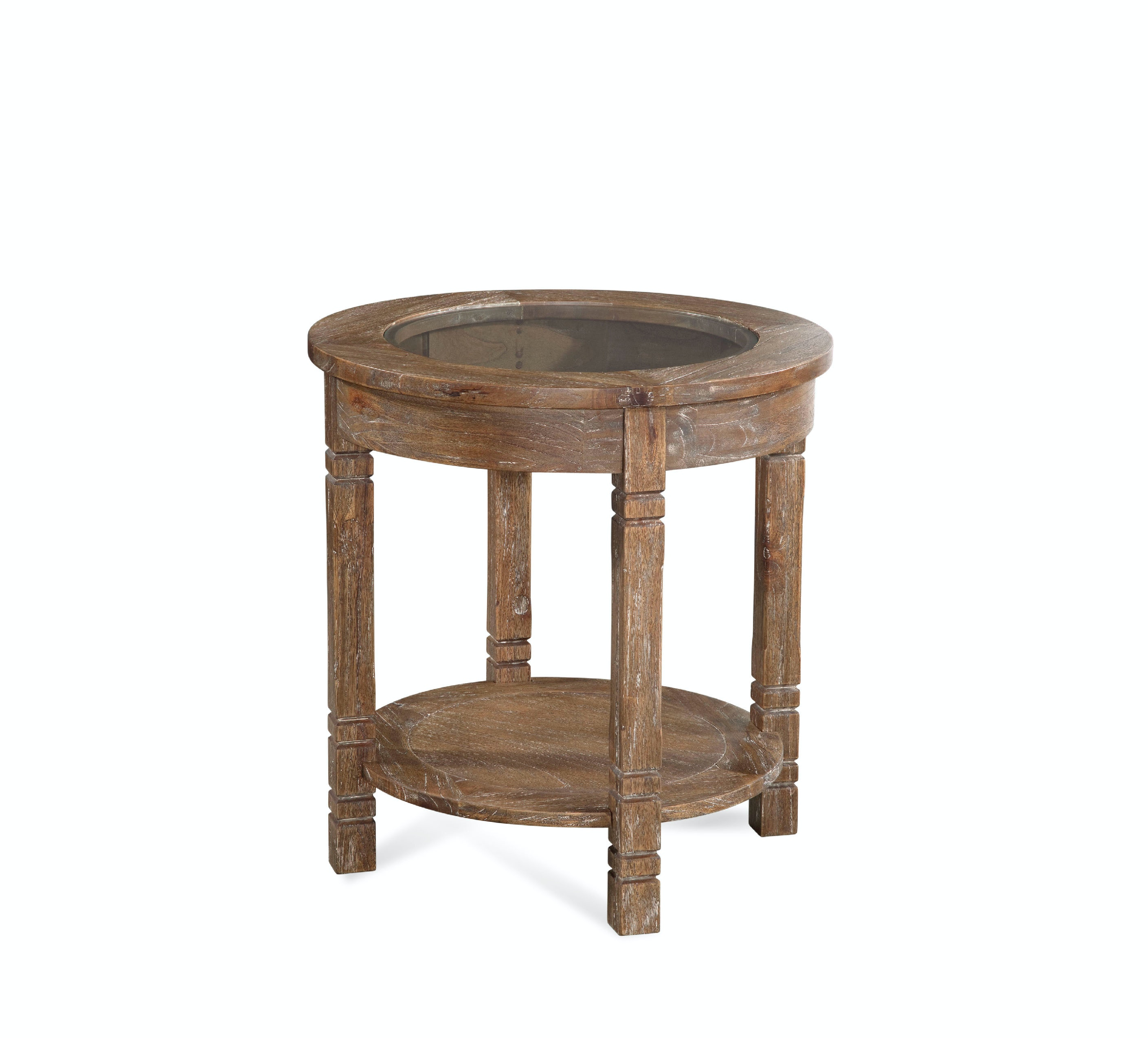 Farmhouse Round End Table 835-022