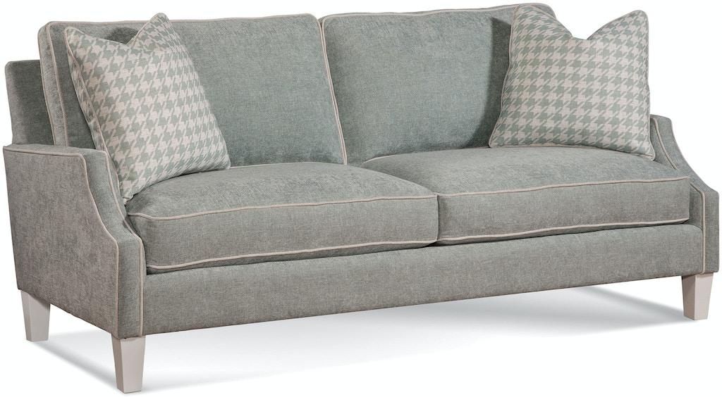Braxton Culler Living Room Two Cushion Sofa A612 0102 At Georgia Furniture