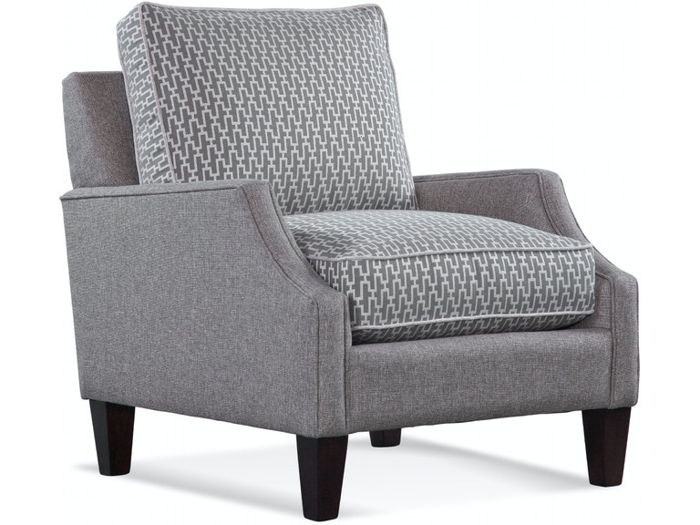 Braxton Culler Urban Options Welted Cut Back Arm, Boxed Button Back Cushion, Tapered Leg Chair A632-001