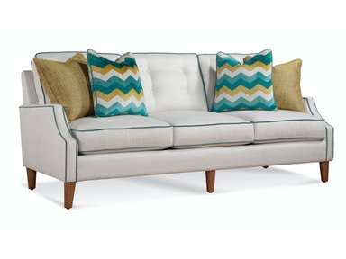 "Urban Options Welted Cut Back Arm, Boxed Button Back Cushion, Turned Leg 83"" Sofa A634-011"