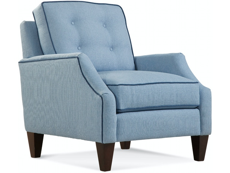 Braxton Culler Urban Options Envelope Cut Back Arm, Boxed Button Back Cushion, Tapered Leg Chair A732-001