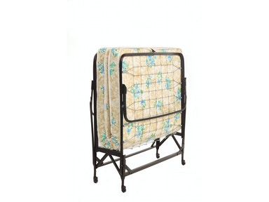 "Fashion Bed Group Deluxe Rollaway 1220 Folding Link Spring Cot with 30"" Foam Mattress and Angle Steel Frame, 29"" x 75"" 411056"