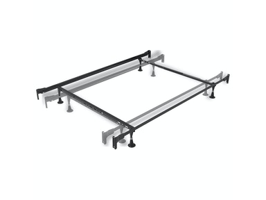 Fashion Bed Group Engineered Adjustable 834 Bed Frame with Fixed Head and Food Panel Brackets and (4) Glide Legs, Twin/Full 420008