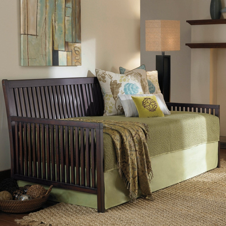 Fashion Bed Group Mission Complete Wood Daybed With Link Spring And Trundle Pop Up