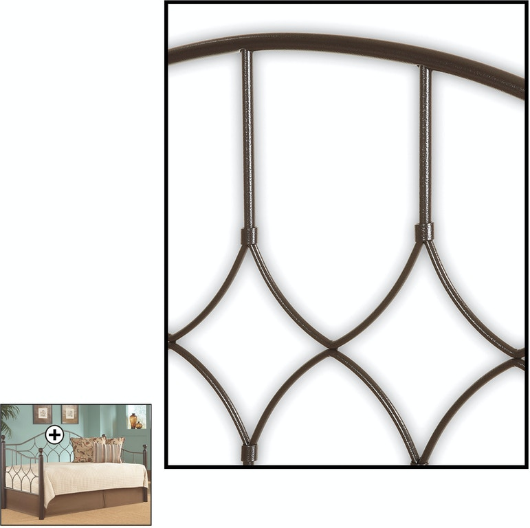 Fashion Bed Group Bedroom Bianca Metal Daybed Frame with Arched Back ...