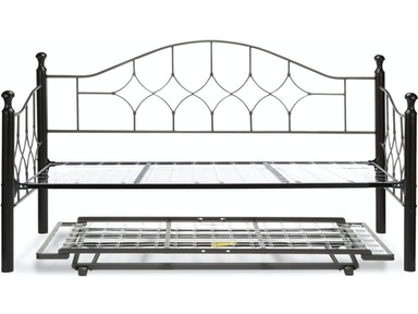Fashion Bed Group Bedroom Bianca Complete Metal Daybed With Link Spring And Trundle Pop