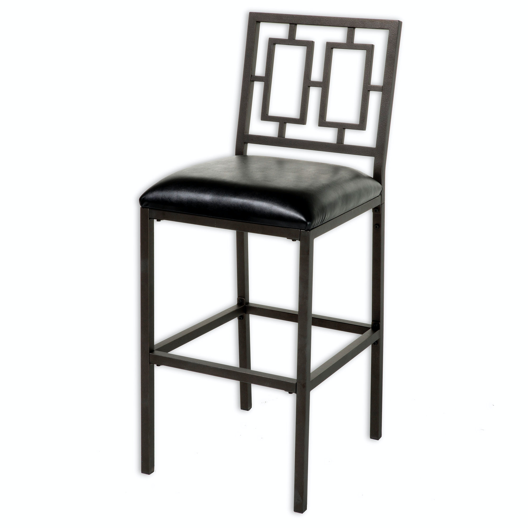Fashion Bed Group Bar And Game Room Lansing Metal Barstool With Black  Upholstered Seat And Coffee