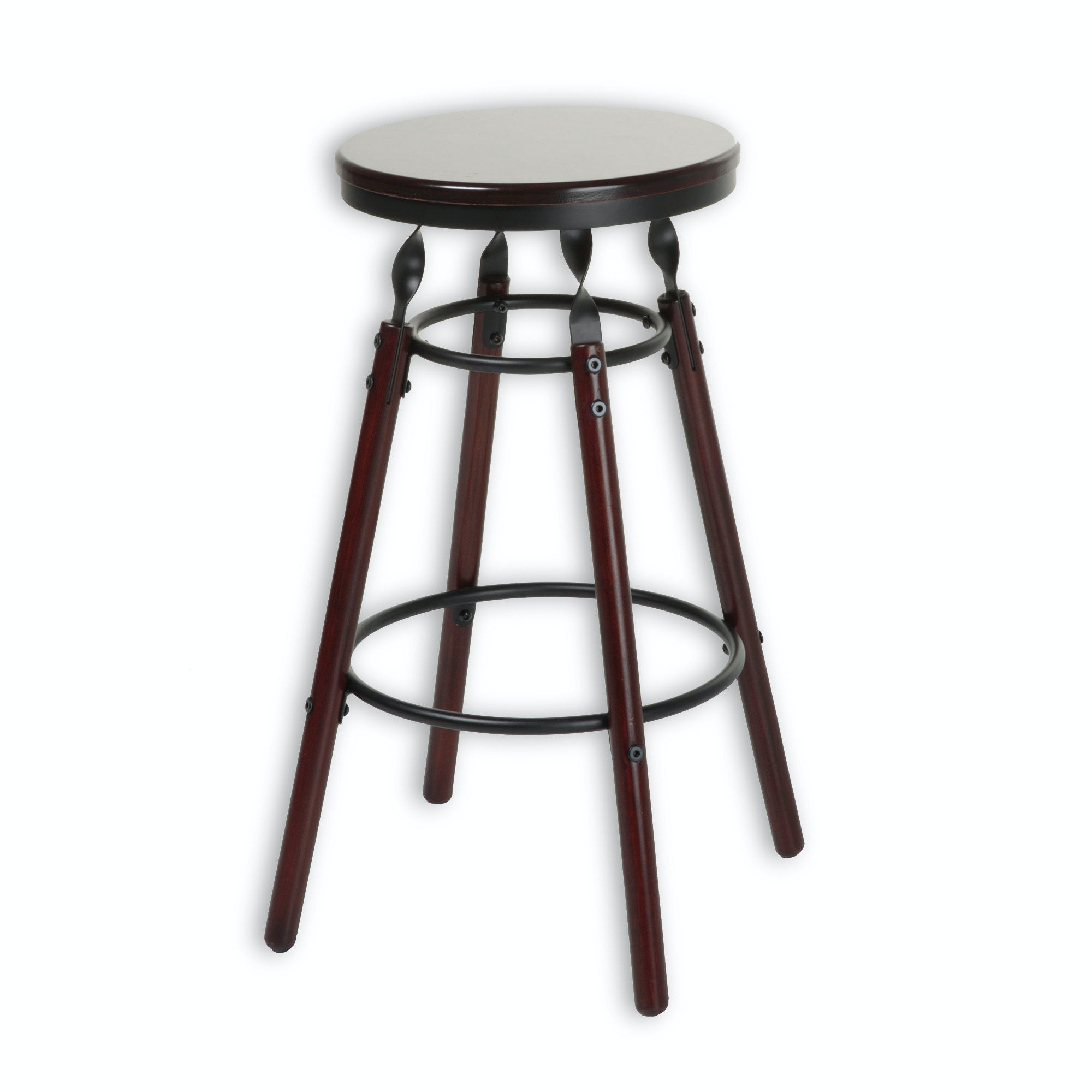 Fashion Bed Group Bar And Game Room Boston Wood Barstool With Dark