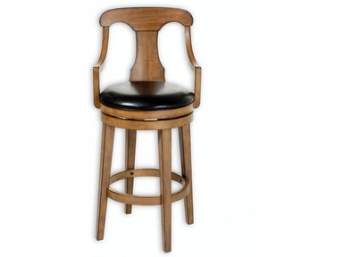 Fashion Bed Group Albany Wood Counter Stool with Black Upholstered Swivel-Seat and Acorn Frame Finish, 26-Inch C1W016
