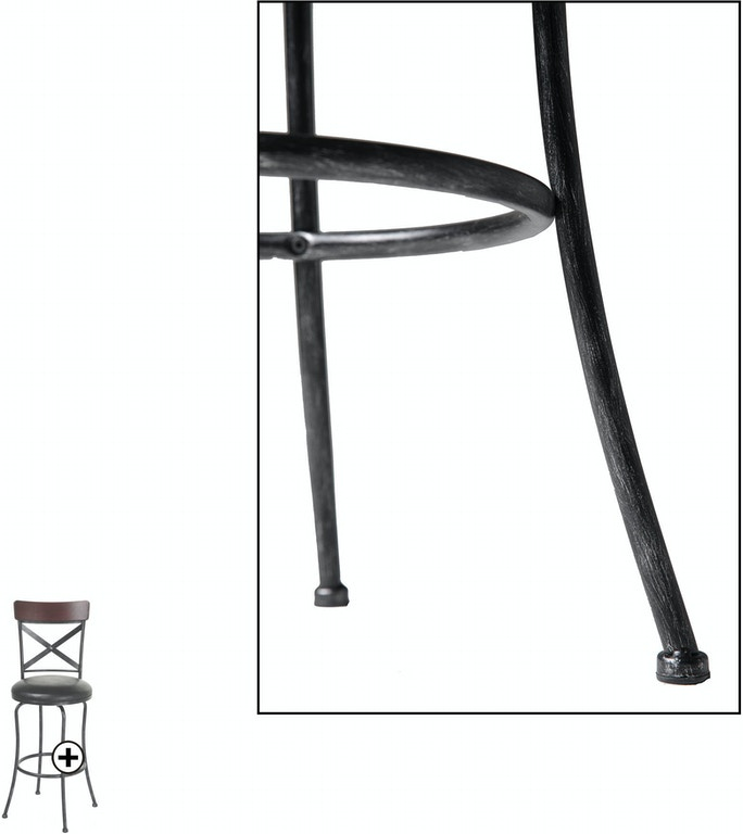 Fashion Bed Group Bar and Game Room Austin Metal Counter Stool with ...