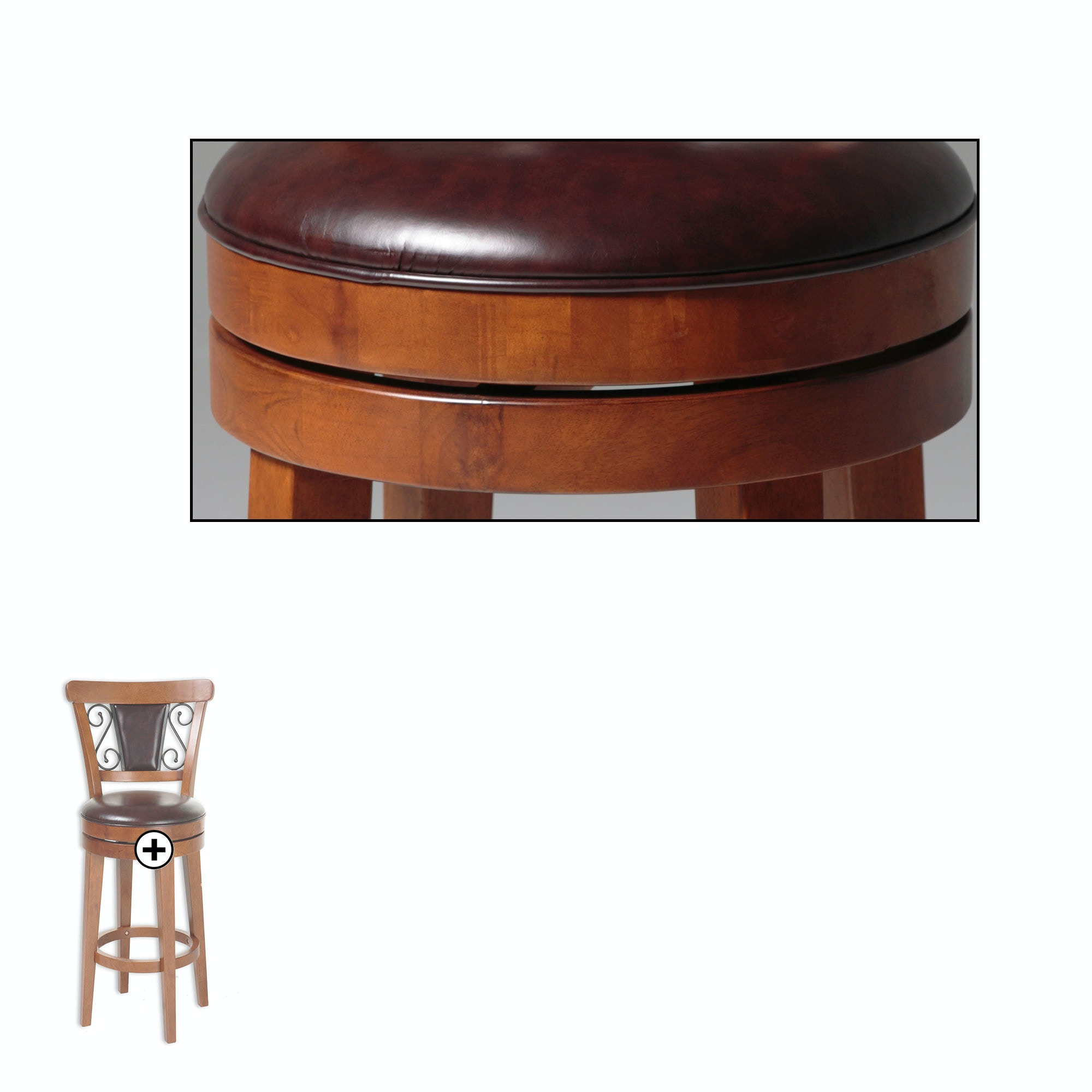 Bar And Game Room Trenton Wood Counter Stool With Brown Upholstered . Full resolution  image, nominally Width 2000 Height 2000 pixels, image with #9E562D.