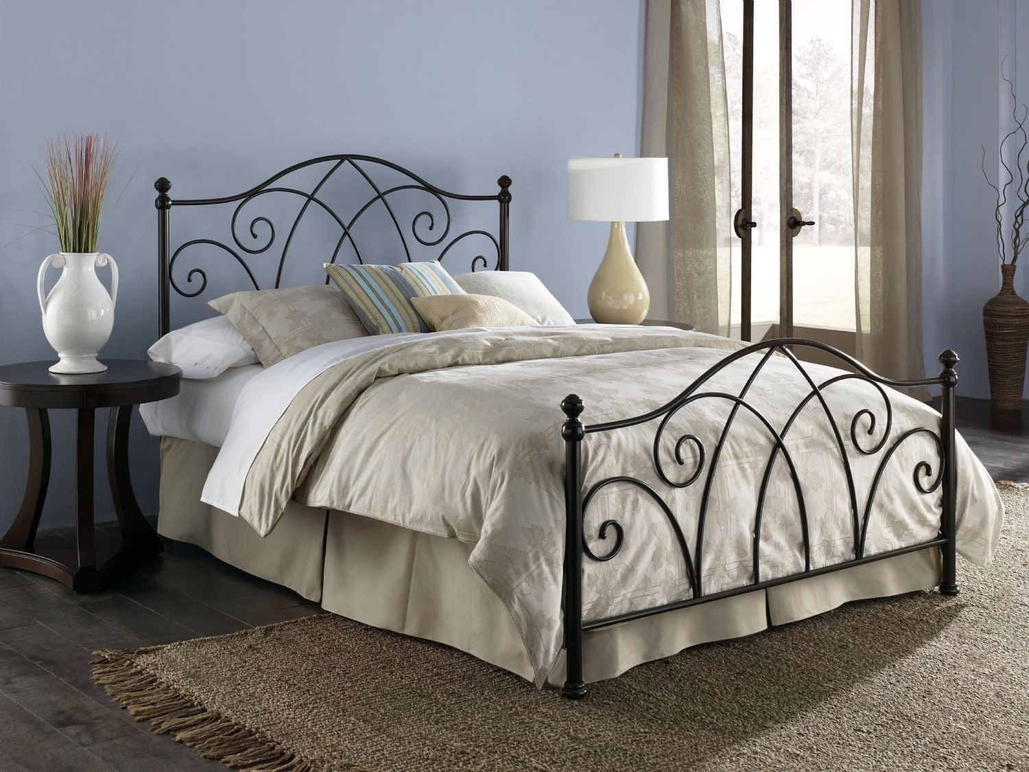 Fashion Bed Group Bedroom Deland 5/0 Bed With Out Frame Brown Sparkle  B10A15   Carol House Furniture   Maryland Heights And Valley Park, MO