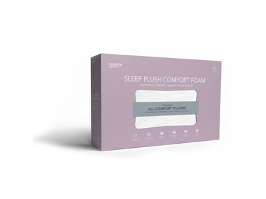 Fashion Bed Group Sleep Plush Energex Comfort Foam Pillow, Standard/Queen QG0175