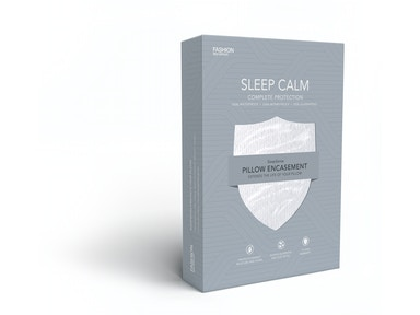 Fashion Bed Group Sleep Calm Pillow Encasement with Stain and Dust Mite Defense, Standard/Queen QP0116