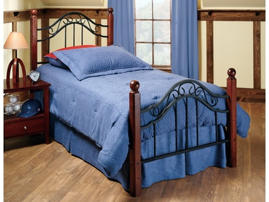 Hillsdale Furniture Madison Bed Set - Twin - with Rails 1010BTWR