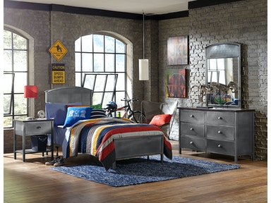 Hillsdale Furniture Urban Quarters Four (4) PC Panel Bedroom Set -Full 1265BFRP4