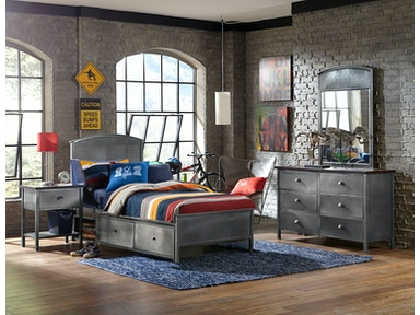 Hillsdale Furniture Urban Quarters Four (4) PC Set with Panel Storage Bed - Full 1265BFRPS4