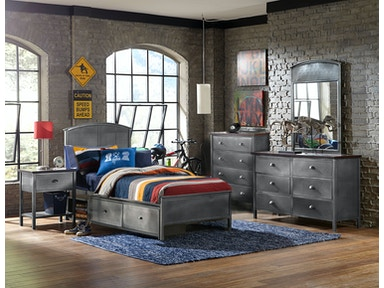Hillsdale Furniture Urban Quarters Five (5) PC Set with Panel Storage Bed - Full 1265BFRPS5