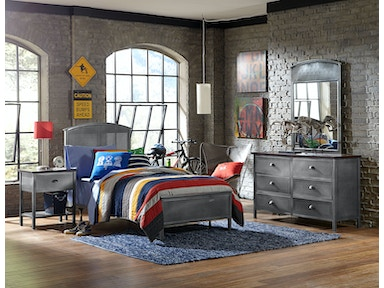 Hillsdale Furniture Urban Quarters Four (4) PC Panel Bedroom Set - Twin 1265BTRP4