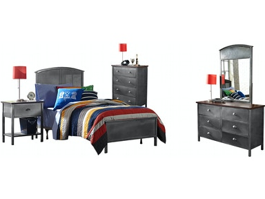 Hillsdale Furniture Urban Quarters Five (5) PC Panel Bedroom Set - Twin 1265BTRP5