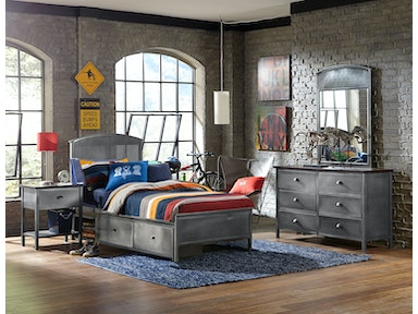 Hillsdale Furniture Urban Quarters Four (4) PC Set with Panel Storage Bed - Twin 1265BTRPS4