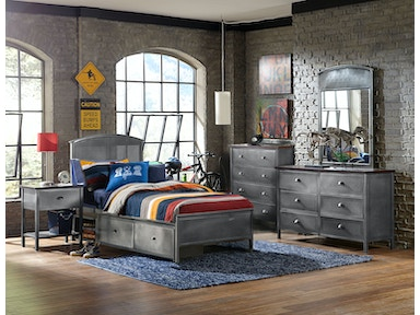 Hillsdale Furniture Urban Quarters Five (5) PC Set with Panel Storage Bed - Twin 1265BTRPS5