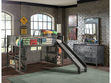 Hillsdale Furniture Urban Quarters Youth Junior Loft with Slide 1265JLS