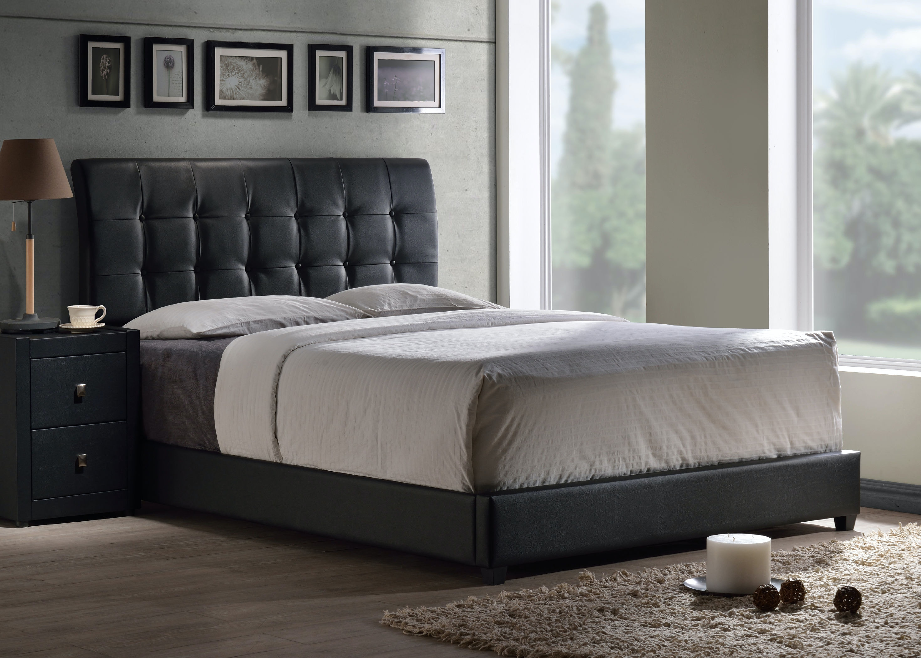 Hillsdale Furniture Lusso Queen Bed Set with Rails 1281BQR