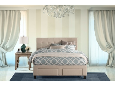 Hillsdale Furniture Duggan Front Storage Bed - King - Rails Included 1284BKRS