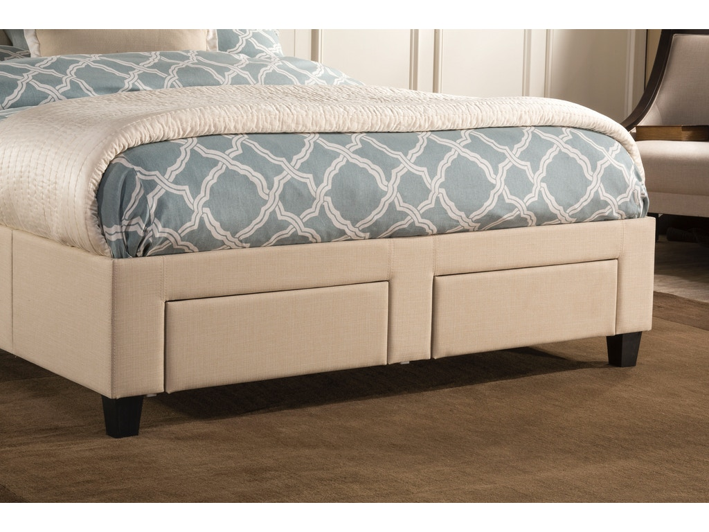 Hillsdale furniture duggan 6 drawer storage bed king for K furniture mattress