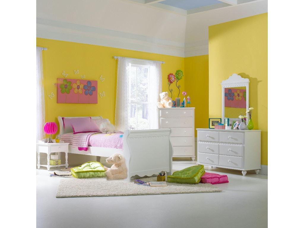 Hillsdale furniture youth bedroom lauren bed full for Bedroom furniture union nj