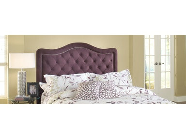 Hillsdale Furniture Trieste Fabric Headboard - King - Purple Fabric 1758-672