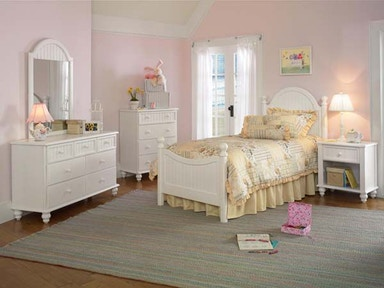 Hillsdale Furniture Westfield Metal Bed - Twin, Rails, Nightstand, Dresser, and Mirror 1354TM4SET