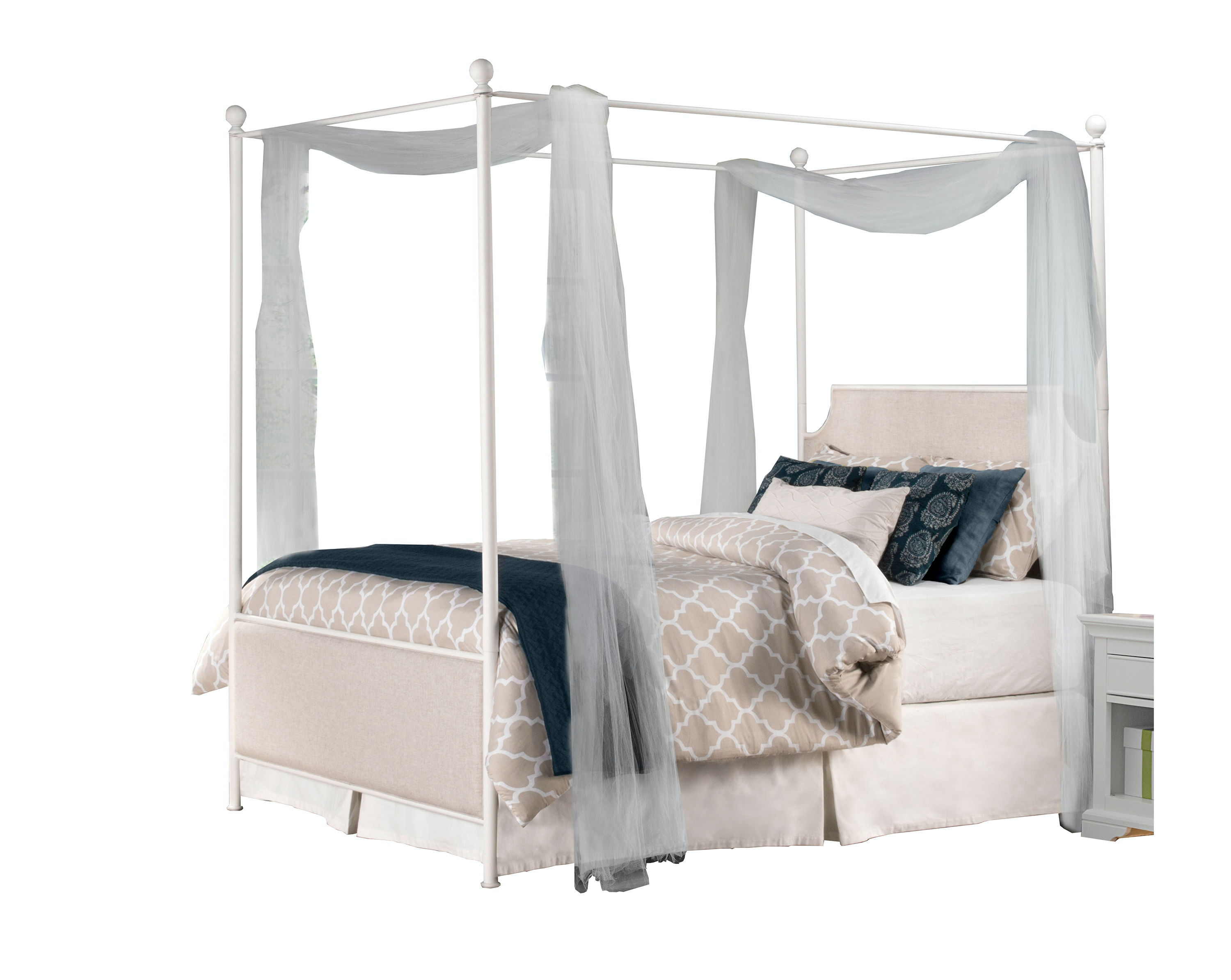 Hillsdale Furniture Youth Mcarthur Canopy Bed Set Off White Finish
